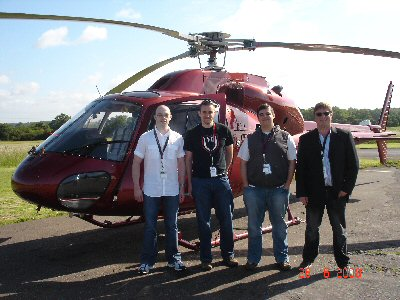 Helicopter to Silverstone